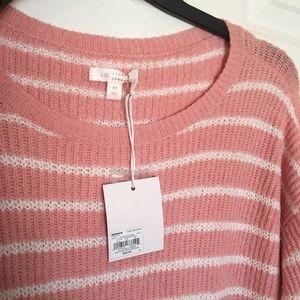 LC Lauren Conrad Sweaters - New Medium Lauren Conrad Pink White Stripe Sweater